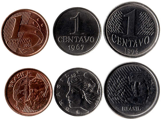 money coin coins brasil brazil cent