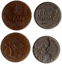 money coin coins france