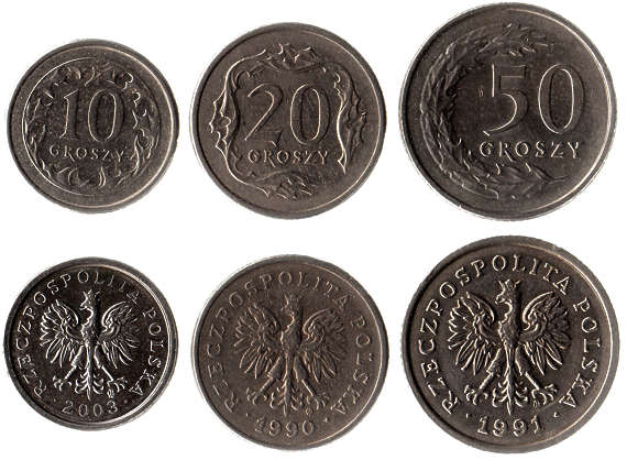 money coin coins poland polish