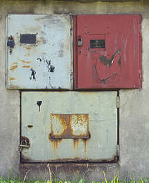 door doors metal hatch fusebox