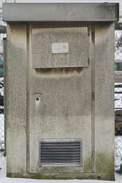 electrical station vent concrete housing fusebox