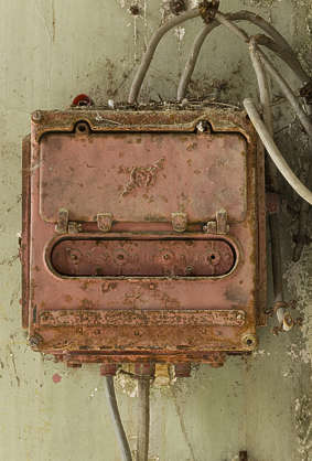 fusebox old rusted electricity