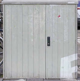 metal fusebox door