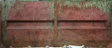 metal garbage container rust paint scratches dumpster