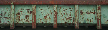 garbage container skiff trash rust paint scratches dumpster