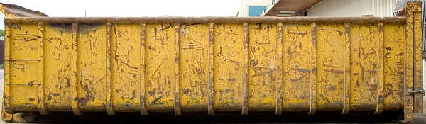 container skiff paint rust metal dumpster