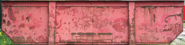 container front rust paint dumpster