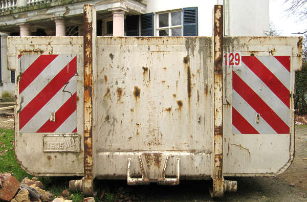 container trash rubble skiff dumpster