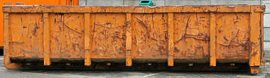 container dumpster trash garbage skiff