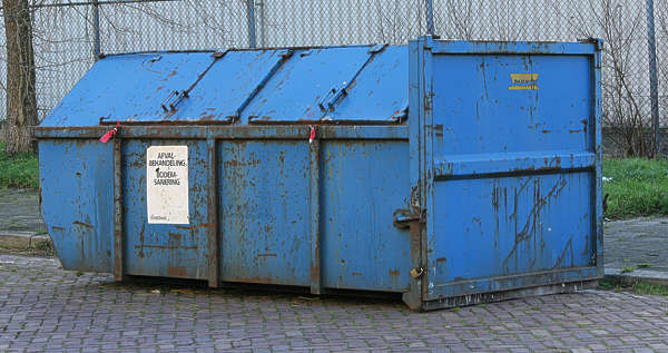 container trash garbage dumpster