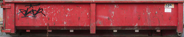 metal container dumpster skiff