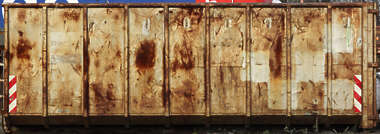 metal container dumpster garbage skiff rust rusted