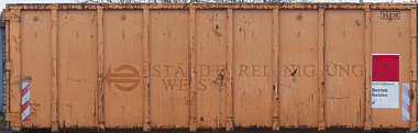 container trash dumpster metal rusted garbage