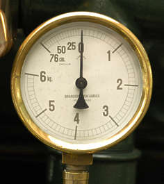 meter meters brass old dial gauge