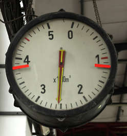 gauge clock large meter dial