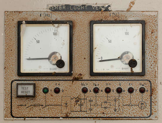 gauge meter electrics electricity hertz power
