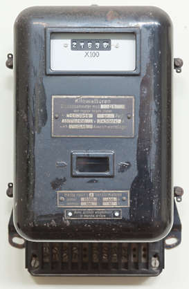 meter counter old transformer converter kilowatt kwh