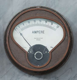 meter gauge gauges meters old electric current ampere