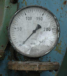 meter smashed broken dial gauge