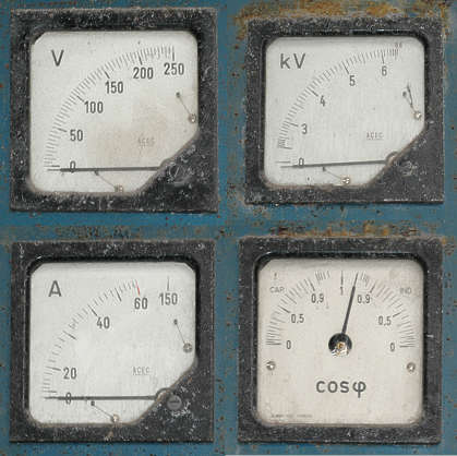 meter voltage ampere dial gauge