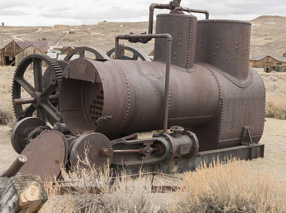 USA Bodie ghosttown ghost town old western goldrush desert arid generator wheel machine
