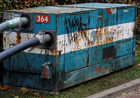 machine metal rust rusted generator paint