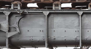 metal plate reinforced beams rivets heavy machinery machine