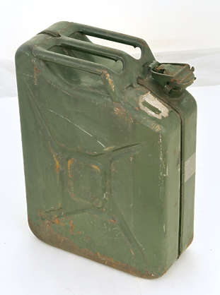 jerrycan jerry can canister metal old rusted weathered