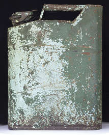canister jerry can jerrycan old weathered worn paint