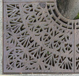 usa seattle metal grate cast iron tree grate sewer ornament ornate
