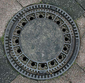 manhole sewer round lid big isolated masked alpha