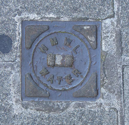 sewer metal lid small round