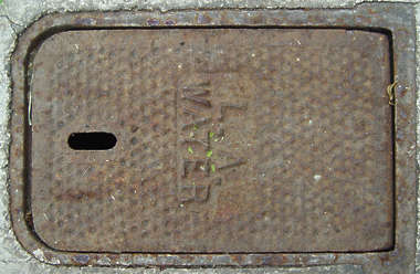 sewer metal lid small