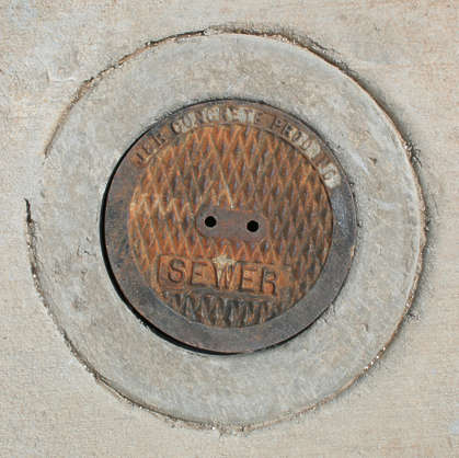 sewer metal lid round small isolated masked alpha