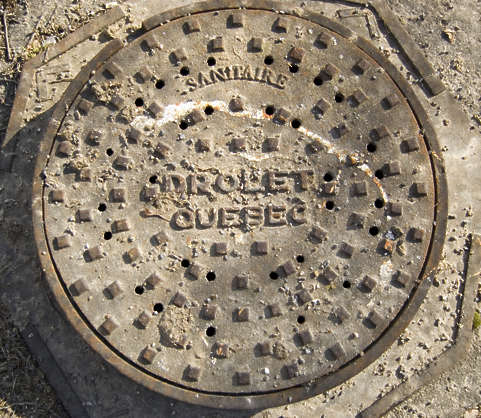 sewer manhole metal big round