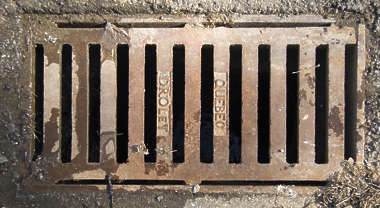 sewer rectangle metal grate