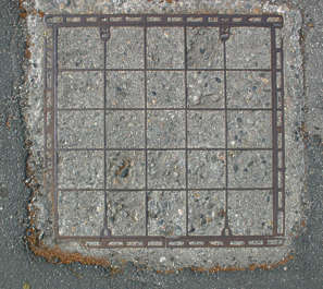 sewer lid square manhole