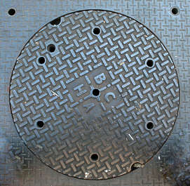 sewer manhole metal round big