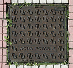 sewer lid manhole square metal big