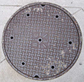 sewer lid round manhole big isolated masked alpha