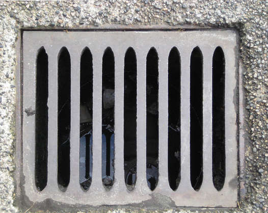sewer lid grate rectangular rectangle