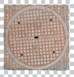 manhole sewer metal lid round big isolated masked alpha