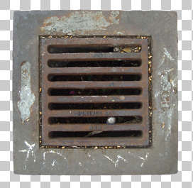 sewer metal lid grate grating isolated