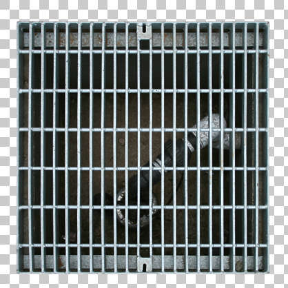 sewer metal lid grate grating isolated masked alpha