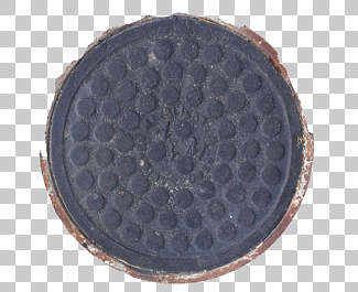 sewer lid round big metal