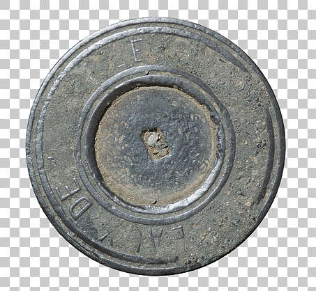 sewer round lid small isolated masked alpha