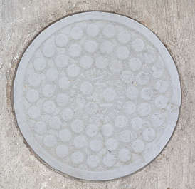 sewer drain grate metal round