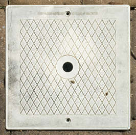 sewer lid plastic square small isolated masked alpha