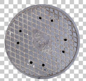 sewer lid manhole round big isolated masked alpha