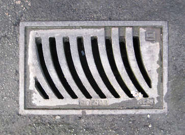 sewer lid rectangular rectangle grate masked isolated alpha